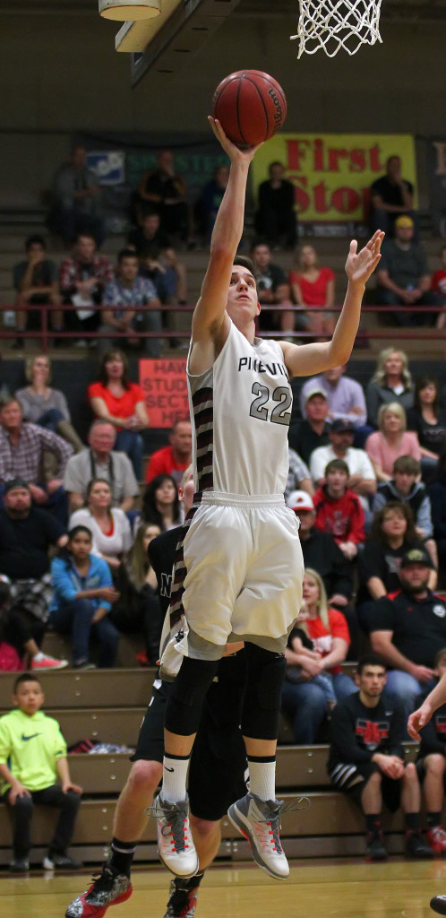 Panther C Cody Ruesch (22), file photo from North Sanpete vs. Pine View, Boys Basketball, St. George, Utah, Feb. 20, 2015 | Photo by Robert Hoppie, ASPpix.com, St. George News