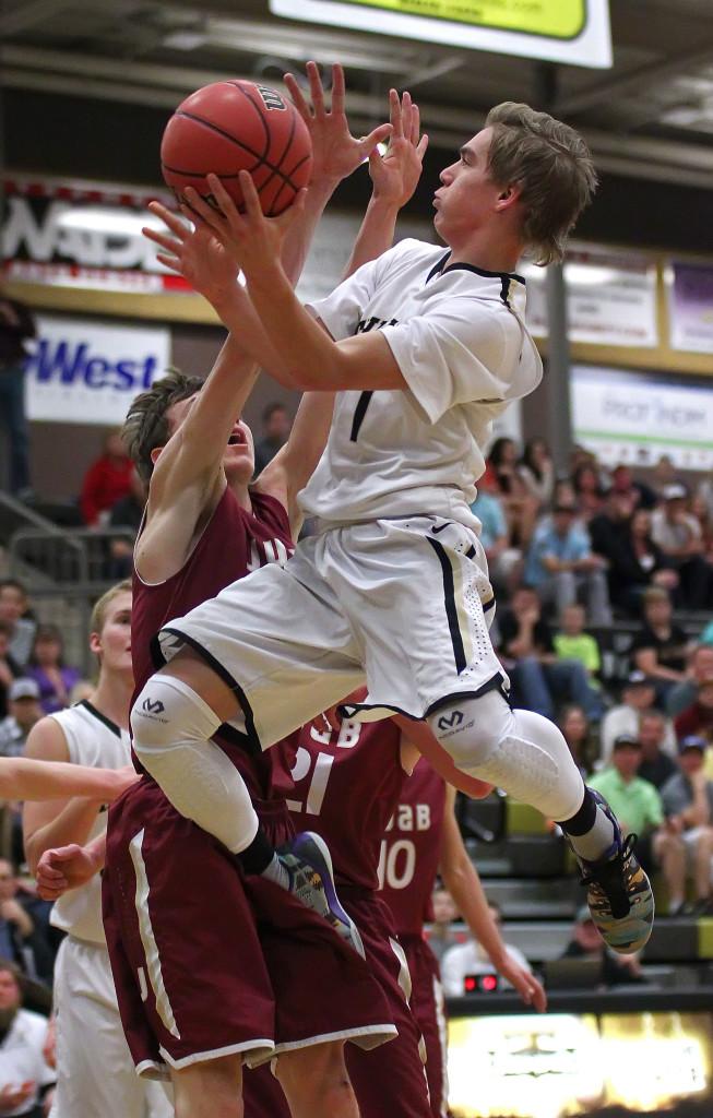 Logan Hokanson, file photo from Juab vs. Desert Hills, Boys Basketball, St. George, Utah, Feb. 20, 2015   Photo by Robert Hoppie, ASPpix.com, St. George News