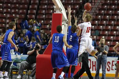 Dixie vs. Bear River, 3A State Basketball Tournament, Salt Lake City, Utah, Feb. 26, 2015 | Photo by Robert Hoppie, ASPpix.com, St. George News