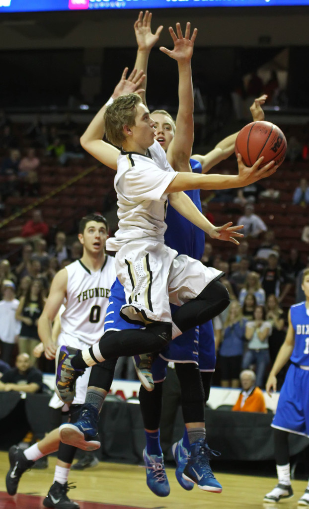 Logan Hokanson, file photo from Desert Hills vs. Dixie, 3A State Tournament, Salt Lake City, Utah, Feb. 27, 2015 | Photo by Robert Hoppie, ASPpix.com, St. George News