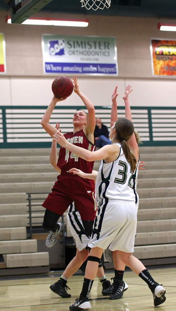Shana Foley with a layup, file photo from Cedar vs. Snow Canyon, Girls Basketball, St. George, Utah, Feb. 3, 2015 | Photo by Robert Hoppie, ASPpix.com, St. George News