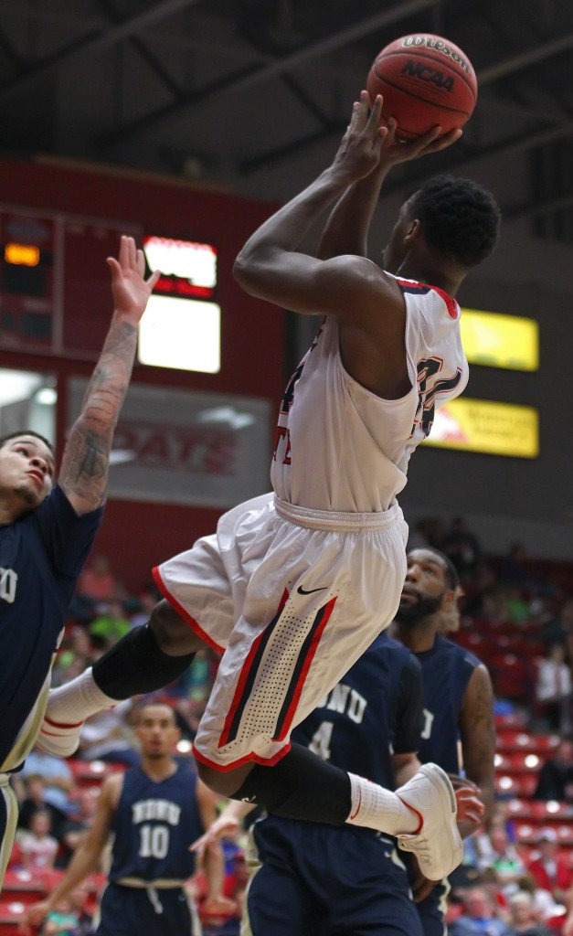 DeQuan Thompson. File photo from Dixie State University vs. Notre Dame De Namur, Men's Basketball, St. George, Utah, Feb. 7, 2015 | Photo by Robert Hoppie, ASPpix.com, St. George News