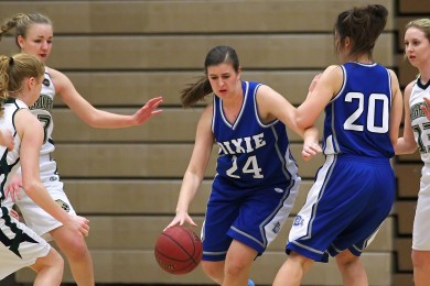 Dixie vs. Snow Canyon, Girls Basketball, St. George, Utah, Feb. 10, 2015 | Photo by Robert Hoppie, ASPpix.com, St. George News