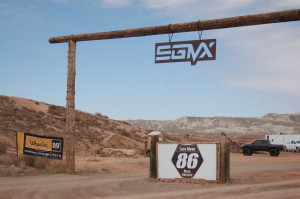 A wooden gate marks the entrance to the SGMX Motoproving Ground, St. George, Utah, Feb. 21, 2015 | Photo by Hollie Reina, St. George News