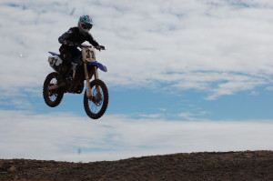 Racers navigate tight turns, bumps and jumps as they participate in the Midwest Area Loretta Lynn Qualifier held at the SGMX Motoproving Ground, St. George, Utah, Feb. 21, 2015 | Photo by Hollie Reina, St. George News