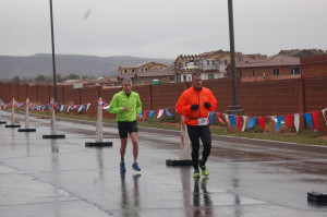 Racers brave the elements on the Road Rage Duathlon, run, bike, run  course which started and finished at Lava Ridge Intermediate School, Santa Clara, Utah, Feb. 28, 2015 | Photo by Billye Burnett, St. George News