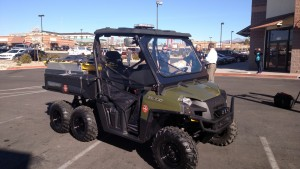 The new Polaris ATV the fire department will be using for first-responder operations in urban and wilderness areas where larger vehicles can't go, St. George, Utah, Feb. 17, 2015 | Photo by Mori Kessler, St. George