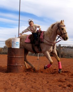 Rieghley Barrow practicing for the upcoming rodeo, St. George, Utah, Feb. 6, 2015 | Photo taken by Carin Miller, St. George News