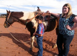 Diesel Bundy and his mother Virginia Bundy getting ready for rodeo practice, St. George, Utah, Feb. 6, 2015 | Photo taken by Carin Miller, St. George News
