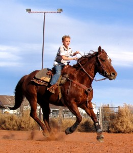 Riggun Barrow practicing for the upcoming rodeo, St. George, Utah, Feb. 6, 2015 | Photo taken by Carin Miller, St. George News