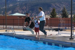 Chilly Dip draws 176 participants, Cedar City Community Center, Cedar City, Utah, Saturday, Feb. 7, 2015 | Photo by Carin Miller, St. George News