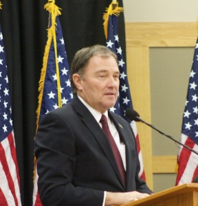 Gov. Gary Herbert, Lincoln Day Breakfast, St. George, Utah | photo by Rhonda Tommer, St. George News