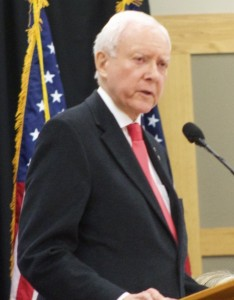 Sen. Orrin Hatch, Lincoln Day Breakfast, St. George, Utah, Feb. 14, 2015 | Photo by Rhonda Tommer, St. George News