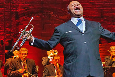 Byron Stripling, jazz artist sings during a concert, location and date unspecified   Photo courtesy of the Celebrity Concert Series, St. George News