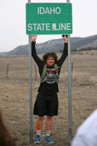 """Utah's Forrest Gump,"" Joshua Bryant at Idaho state line, near Portage, Utah, Feb. 1, 2015 