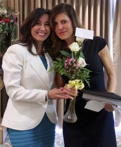 UBW Award winner Paula Temple, left, with Blanca Martineau, Feb. 10, 2015 | Photo by Rhonda Tommer, St. George News
