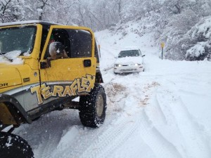 Search and rescue volunteers rescue stranded campers in Oak Grove, Washington County, Utah, Feb. 28, 2015 | Photos courtesy of Washington County Search and Rescue, St. George News
