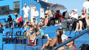 The crowd watches as a tournament game unfolds at Dixie High School's Flyers Field, St. George, Utah, Feb. 16, 2015 | Photo by Devan Chavez, St. George News