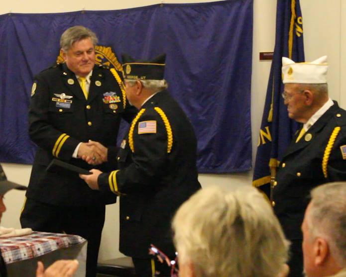 Terry Dunne, advisory board chairman of the Utah Department of Veterans & Military Affairs, awarded Legionnaire of the Year, St. George, Utah, Feb. 25, 2015 | Photo by Leanna Bergeron, St. George News