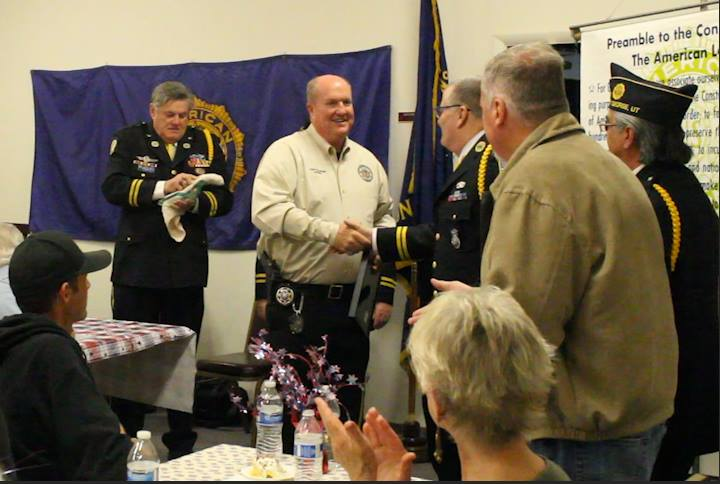 Washington County Sheriff Cory Pulsipher named Citizen of the Year for 2014 by American Legion Post 90, St. George, Utah, Feb. 25, 2015 | Photo by Leanna Bergeron, St. George News