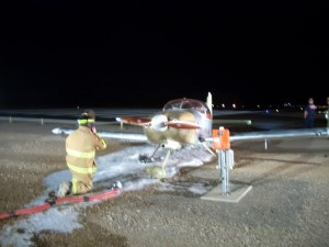 Aftermath of an airplane fire at the St. George Municipal Airport, St. George, Utah, Feb. 13, 2015 | Photo courtesy of Brad Kitchen, St. George News