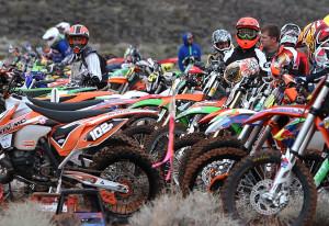 A sea of bikes lined up for the Big Bike Race, Littlefield, AZ, Feb. 28, 2015 | Photo by Leanna Bergeron, St. George News