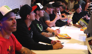 Pro riders take the opportunity to meet and greet fans, Feb, 20, 2015, Mesquite, Nevada | Photo by Leanna Bergeron