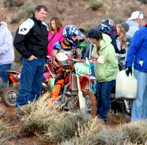A rider preparing before the Mini Bike Race, Littlefield, AZ, Feb. 28, 2015 | Photo by Leanna Bergeron, St. George News