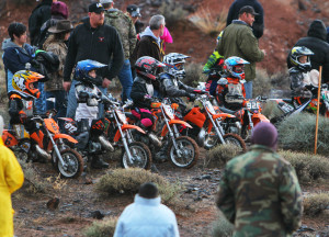 Pee Wee riders before the start of the race, Littlefield, AZ, Feb. 28, 2015 | Photo by Leanna Bergeron, St. George News