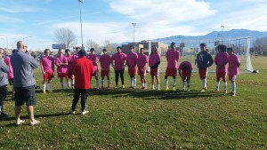 Boys, L-R, Blake,Tyson, Chepe, Riley, Aaron, Johnathan, Javier, Jorge, Jose,Kalob, Angel,Pepito, Israel, Richy, Eddie with coaches, Mike, Time and Jose weating their pink shirts in honor of teammate Juan Solares who passed away shortly before the team competed in Utah's President's Cup and won, location and date not specified | Photo courtesy of Team Manager Laurie Dudley, St. George News