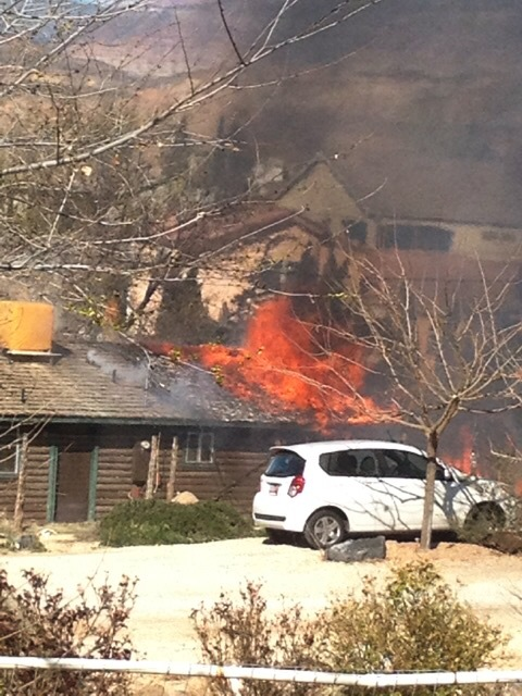Fire destroys home in Laverkin, Utah, Feb. 24, 2015 | Photo courtesy of Chrystal Lauritzen, St. George News