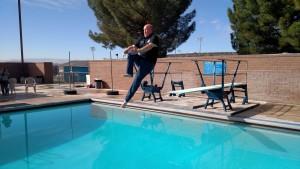 Washington County Sheriff Cory Pulispher practicing midair ballet, St. George, Utah, Feb. 21, 2015 | Photo by Mori Kessler, St. George News