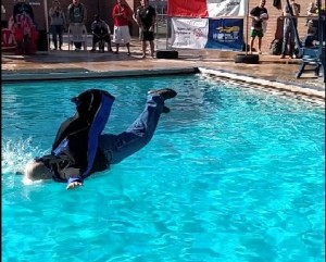 This man is performing the majestic hydro-faceplant technique, St. George, Utah, Feb. 21, 2015 | Photo courtesy of an innocent bystander using Mori Kessler's phone, St. George News
