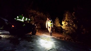 Iron County Search and Rescue crews bring hikers in from Parowan Canyon, Parowan, Utah, Feb. 9, 2015 | Photo courtesy of Iron County Search and Rescue, St. George News