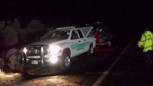 Iron County Sheriff's deputies help rescue three hikers and a dog in Parowan Canyon, Parowan, Utah, Feb. 9, 2015 | Photo courtesy of Iron County Search and Rescue, St. George News