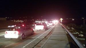 Two-car collision on River Road, St. George, Utah, Feb. 14, 2015 | Photo by Mori Kessler, St. George News