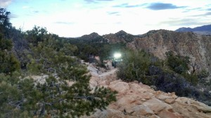 Search and rescue responders rescue a lost hiker on the Red Mountain Trail near Dammeron Valley, Utah, Feb. 7, 2015 | Photo courtesy of Washington County Search and Rescue, St. George News