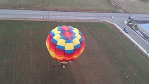 A view from a hot air balloon high above Kanab, Utah, Feb. 27, 2015 | Photo by Cami Cox Jim, St. George News