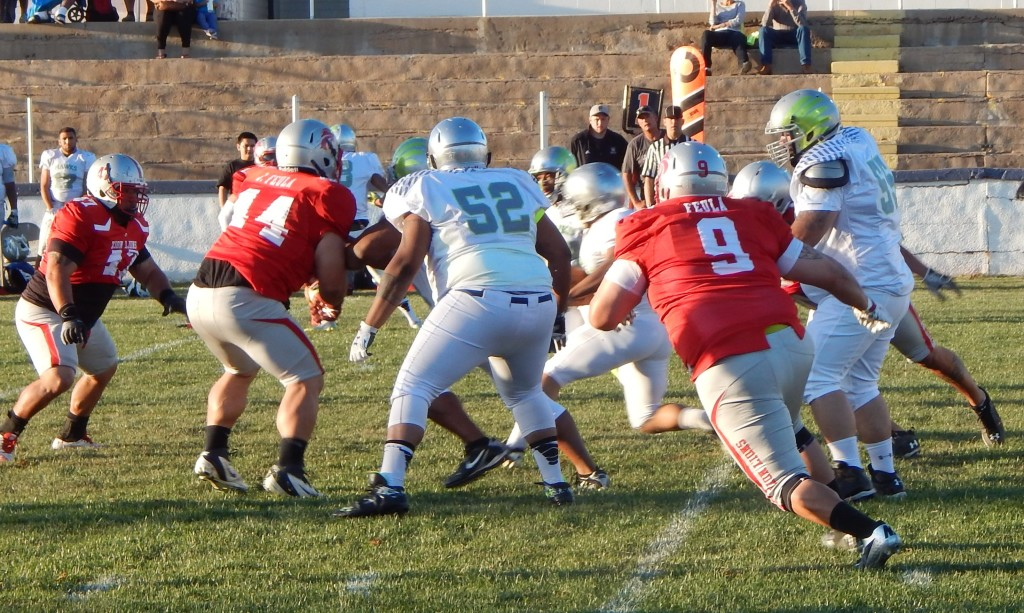Zion vs. Vegas, semi-pro football, St. George, Utah, Mar. 21, 2015   Photo by Andy Griffin, St. George News
