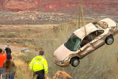 Aftermath of the crash at Quail Creek State Park, Hurricane, Utah, March 3, 2015 | Photo by Mori Kessler, St. George News