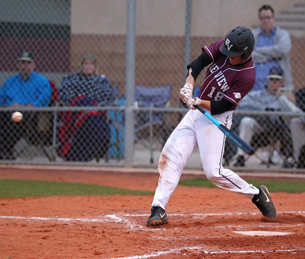 Hunter Hansen (18) takes a swing, file photo from Snow Canyon vs. Pine View, baseball, St. George, Utah, Mar. 18, 2015 | Photo by Robert Hoppie, ASPpix.com, St. George News