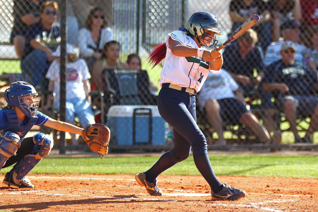 Sonya Hardy, file photo from Dixie vs. Snow Canyon, Softball, St. George, Utah, Mar. 27, 2015 | Photo by Robert Hoppie, ASPpix.com, St. George News