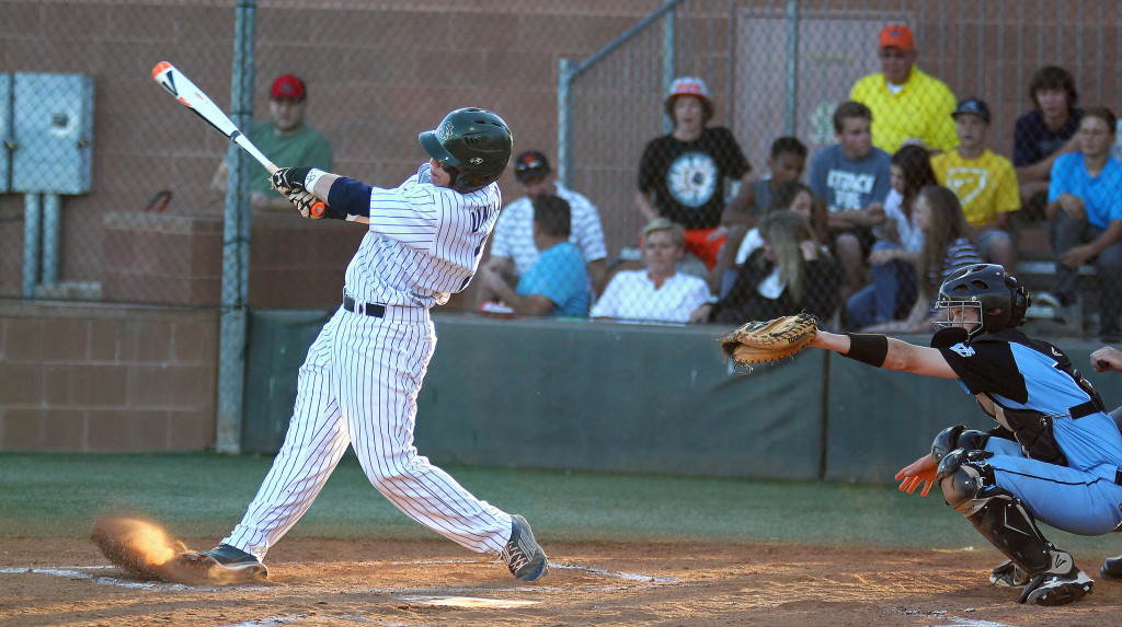 Nick Dolce takes a cut for Snow Canyon, Canyon View vs. Snow Canyon, Baseball, St. George, Utah, Mar. 27, 2015   Photo by Robert Hoppie, ASPpix.com, St. George News