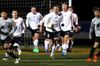 Pine View vs. Desert Hills, Boys Soccer, St. George, Utah, Mar. 3, 2015 | Photo by Robert Hoppie, ASPpix.com, St. George News
