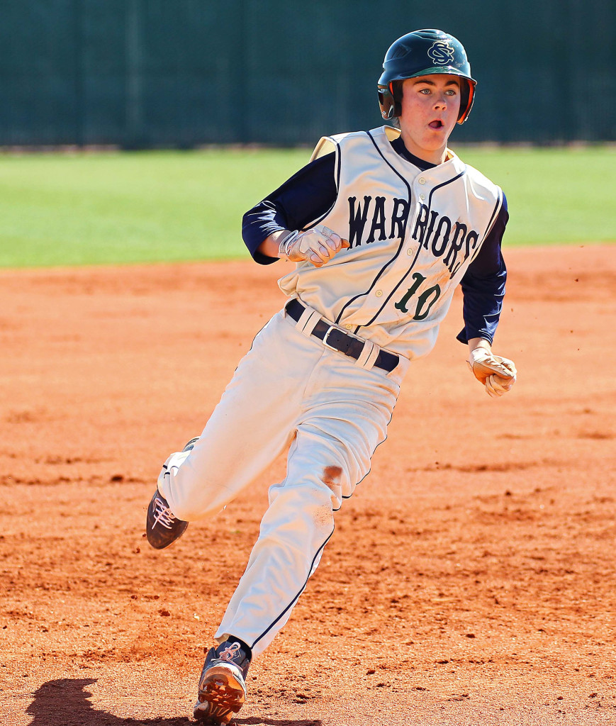 Austin Deming, file photo from Canyon View vs. Snow Canyon, Baseball, St. George, Utah, Mar. 7, 2015 | Photo by Robert Hoppie, ASPpix.com, St. George News