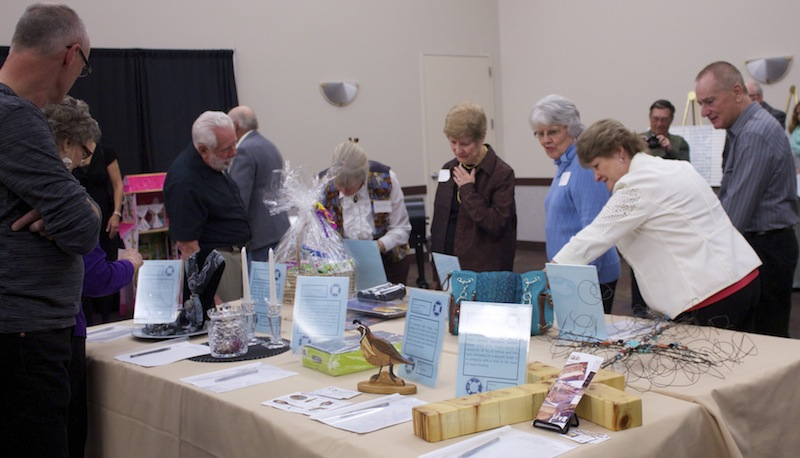 More the 60 items were donated for a silent auction held at the banquet, St. George, Utah, Feb. 28, 2015 | Photo by Rhonda Tommer, St. George News.