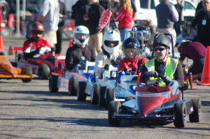 Racers take off at the 15th annual SkyWest Mini Indy charity race held at the Ridge Top Complex, St. George, Utah, March 20, 2015   Photo by Hollie Reina, St. George News