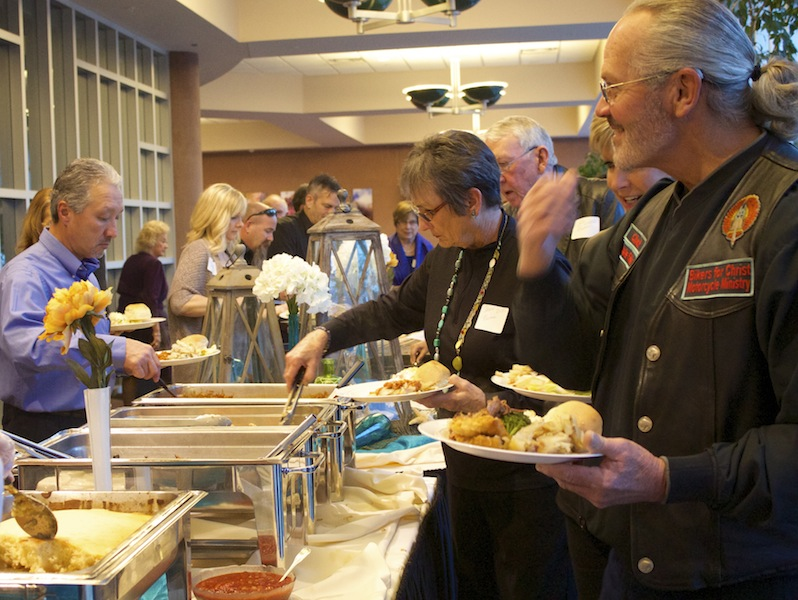 Guests enjoyed dinner catered by the Dixie Center, St. George, Utah, Feb. 28, 2015 | Photo by Rhonda Tommer, St. George News