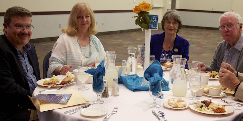 (l-r)Pastor Ray and Kathi, Schroeder, Sonja and Bob Blanke attended the banquet, St. George, Utah, Feb. 28, 2015 | Photo by Rhonda Tommer, St. George News.