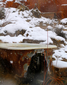 Clawfoot bathtubs located on the upper level, Mystic Hot Springs, Monroe, Utah, March 2, 2015 | Photo by Carin Miller, St. George News